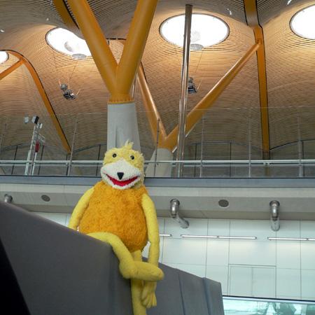 Eric at Madrid Airport