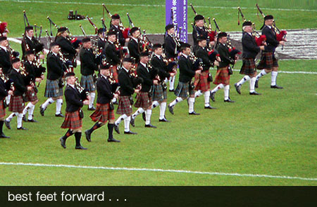 Pipers at Murrayfield
