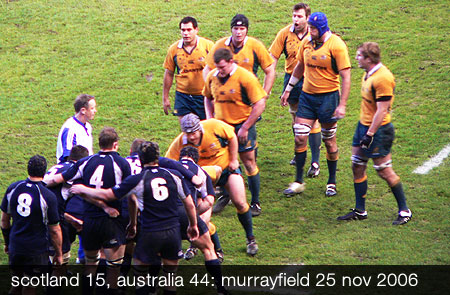 Scotland vs Australia at Murrayfield